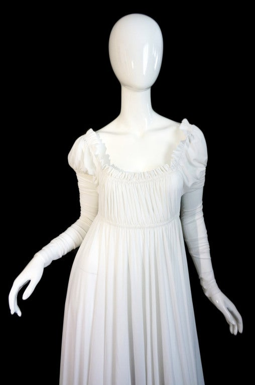 1970s Norma Kamali White Jersey Gown image 5