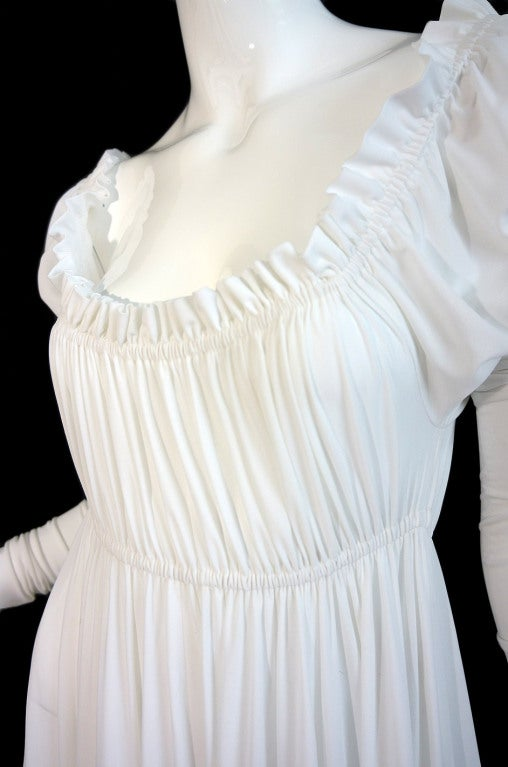 1970s Norma Kamali White Jersey Gown image 8