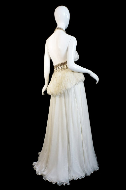 PF/W2011 McQueen Crystal Feather Gown 3