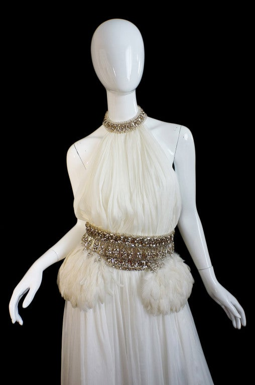 PF/W2011 McQueen Crystal Feather Gown 5