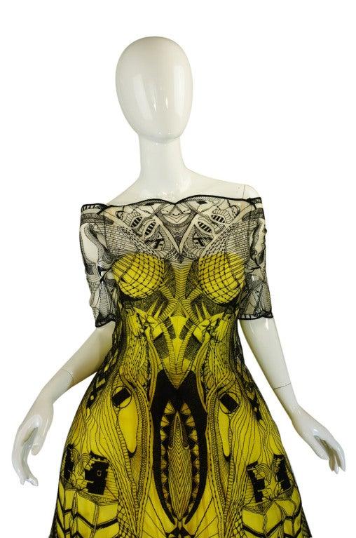 Women's R2010 Alexander McQueen Tattoo Dress For Sale