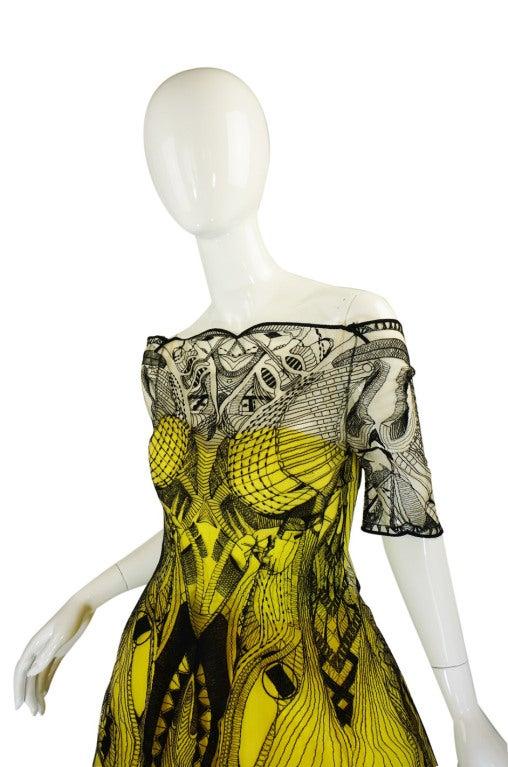 R2010 Alexander McQueen Tattoo Dress For Sale 1