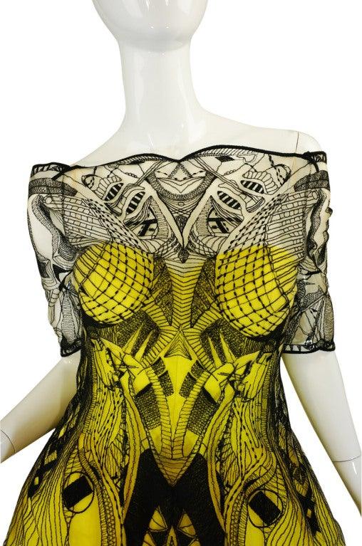 R2010 Alexander McQueen Tattoo Dress For Sale 3