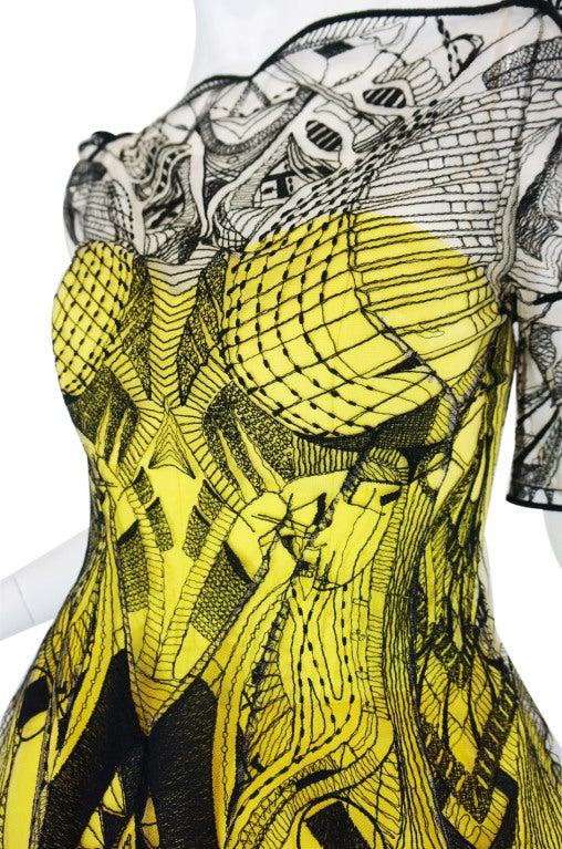 R2010 Alexander McQueen Tattoo Dress For Sale 4