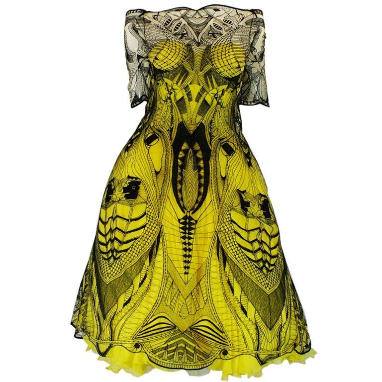 R2010 Alexander McQueen Tattoo Dress For Sale