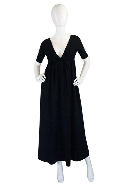 1970s Rudi Gernreich Plunge Knit Dress 2