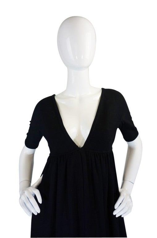1970s Rudi Gernreich Plunge Knit Dress 4