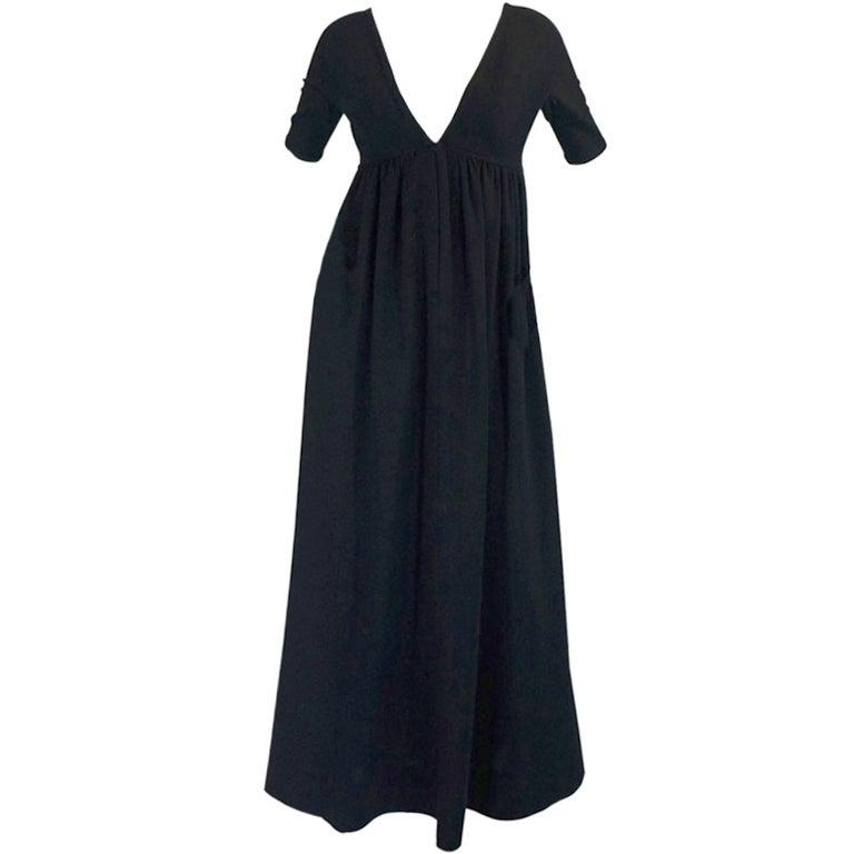 1970s Rudi Gernreich Plunge Knit Dress 1