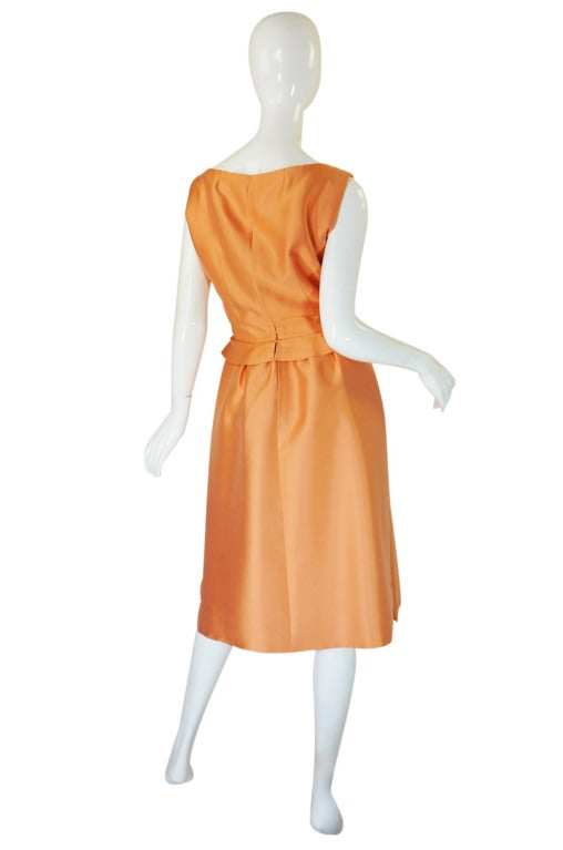 c1965 Numbered Christian Dior London Simple Silk Dress 2
