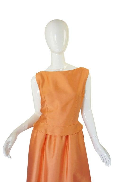c1965 Numbered Christian Dior London Simple Silk Dress 3
