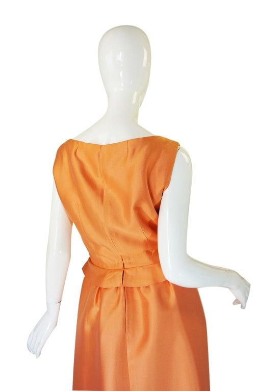 c1965 Numbered Christian Dior London Simple Silk Dress 4