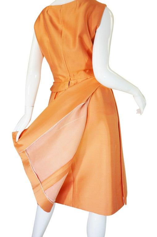 c1965 Numbered Christian Dior London Simple Silk Dress 5