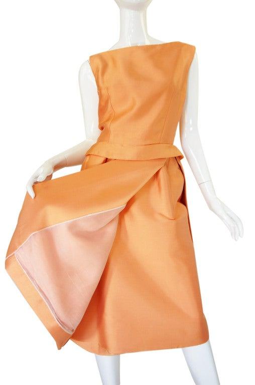 c1965 Numbered Christian Dior London Simple Silk Dress 6