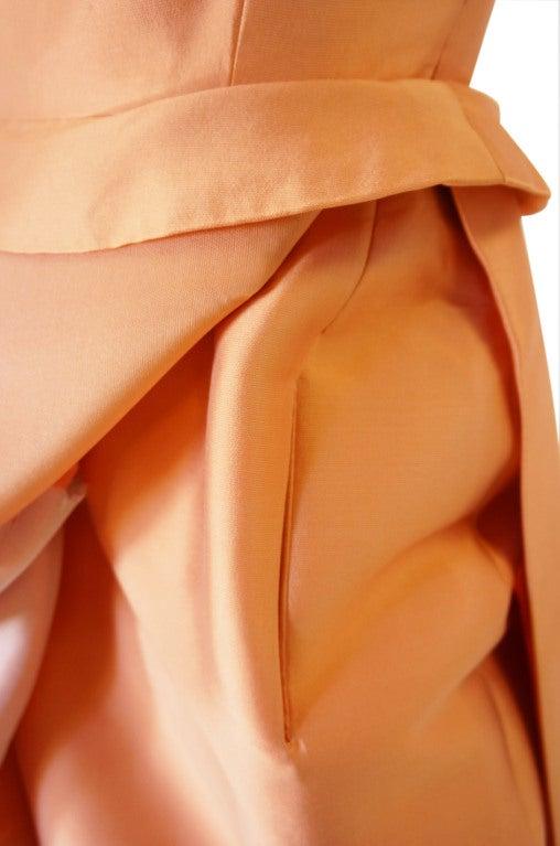 c1965 Numbered Christian Dior London Simple Silk Dress 8