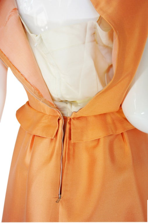 c1965 Numbered Christian Dior London Simple Silk Dress 9