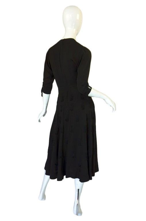 1940s Silk Tassle & Cord Swing Dress 2