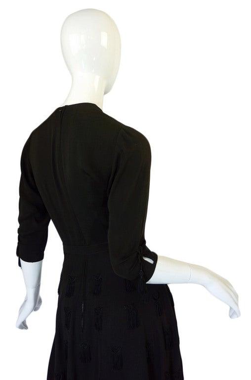 1940s Silk Tassle & Cord Swing Dress 5