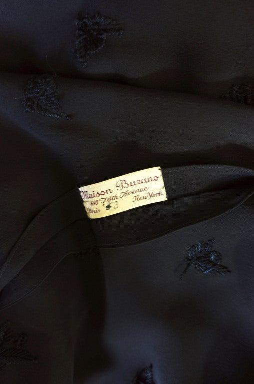 1940s Silk Tassle & Cord Swing Dress 8