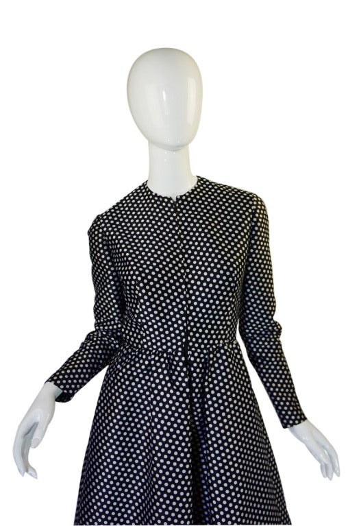 1960s Dotted Geoffrey Beene Dress 3