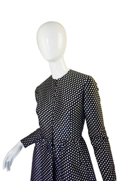 1960s Dotted Geoffrey Beene Dress 4