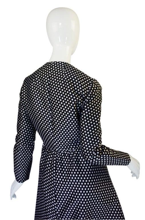 1960s Dotted Geoffrey Beene Dress 5