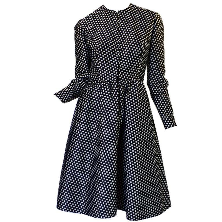 1960s Dotted Geoffrey Beene Dress 1