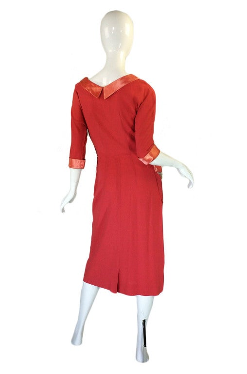 1940s Bead & Pearl Trimmed Swing Dress 2