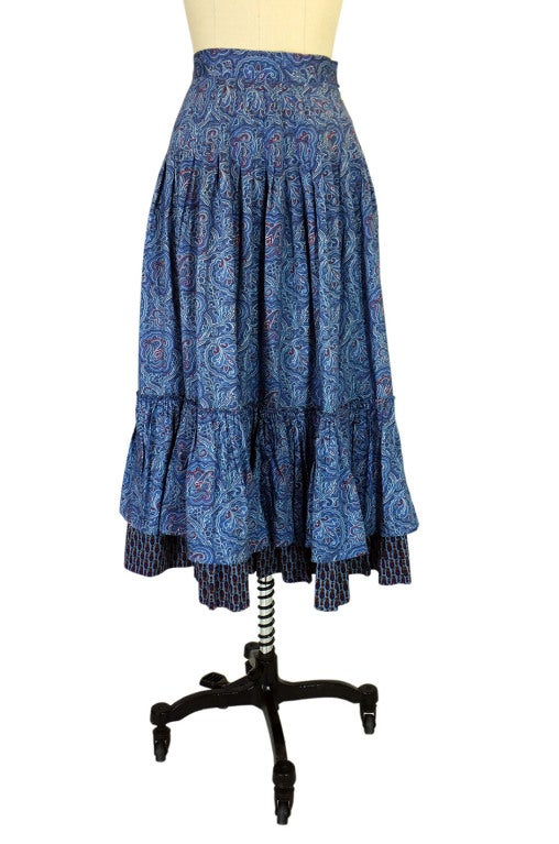 1970s Yves Saint Laurent Gypsy Skirt 2