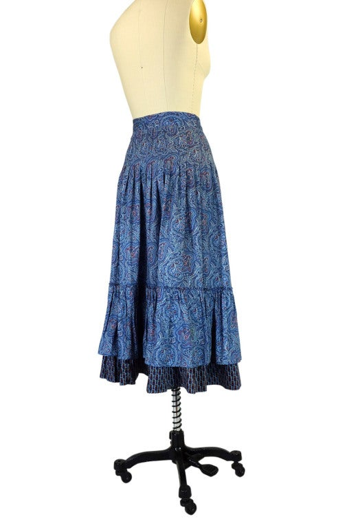 1970s Yves Saint Laurent Gypsy Skirt 3