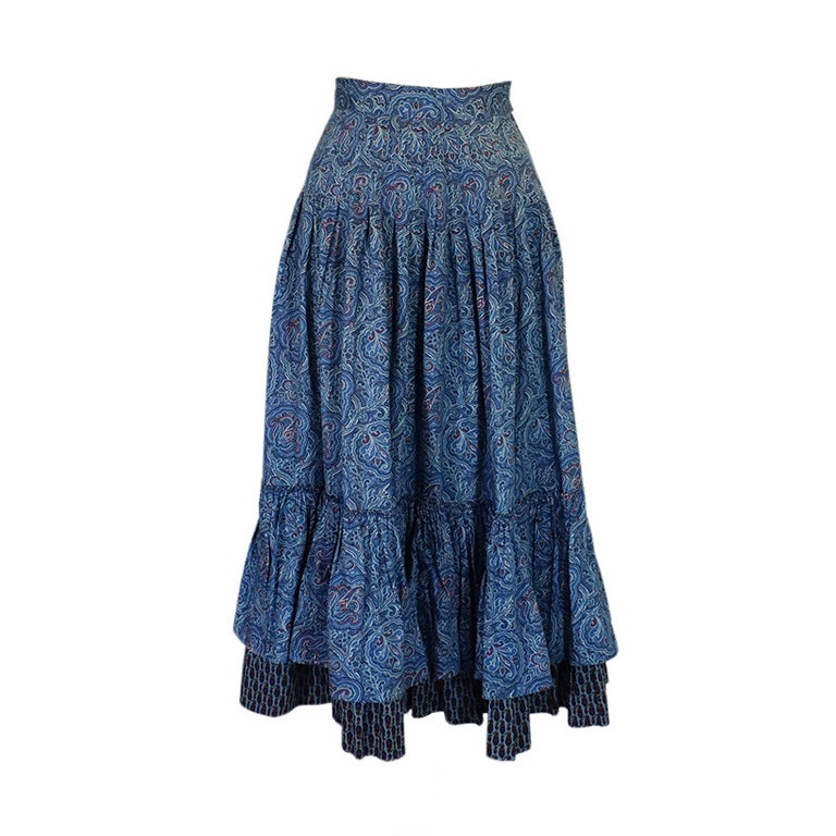 1970s Yves Saint Laurent Gypsy Skirt 1