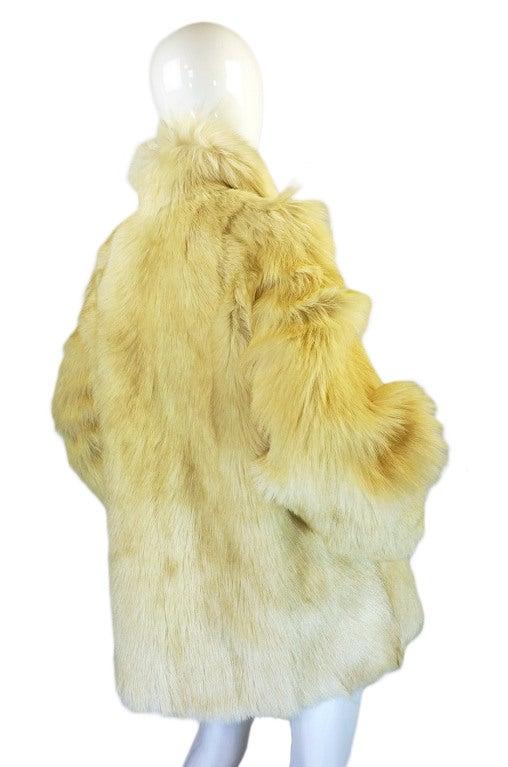 1970s Shaggy Goat Cream Fur Jacket 5