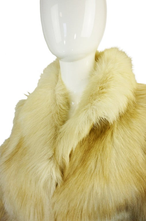 1970s Shaggy Goat Cream Fur Jacket 6
