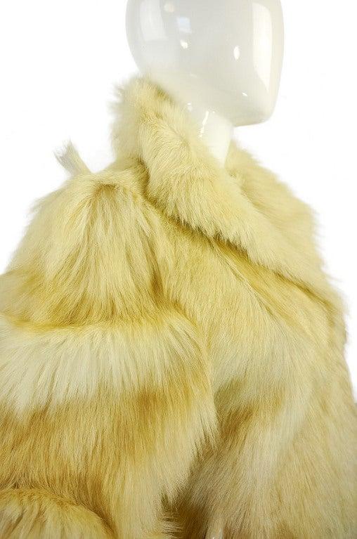 1970s Shaggy Goat Cream Fur Jacket 7