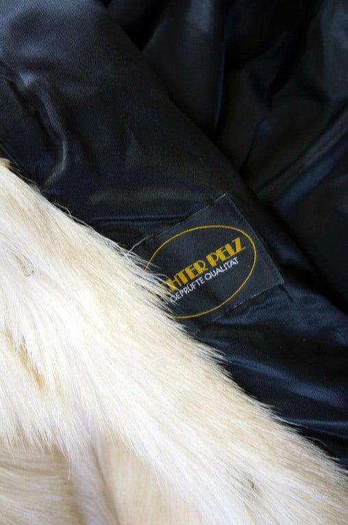 1970s Shaggy Goat Cream Fur Jacket 8