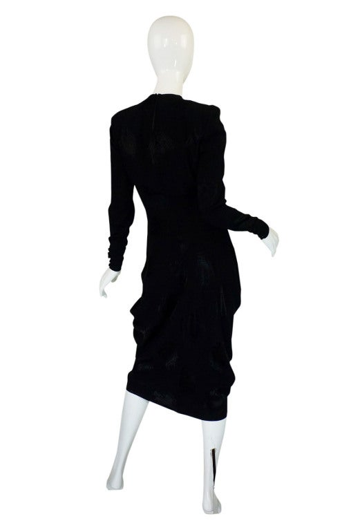 1940s Silk Draped Femme Fatale Dress 2