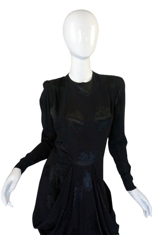 1940s Silk Draped Femme Fatale Dress 3