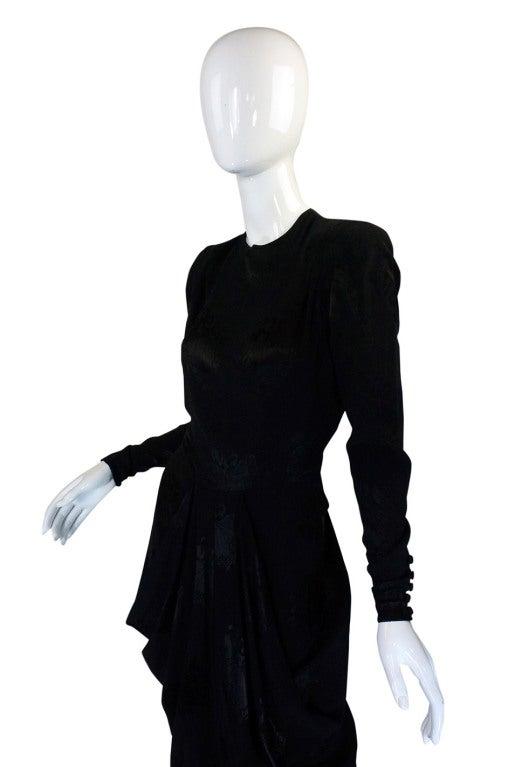 1940s Silk Draped Femme Fatale Dress 4