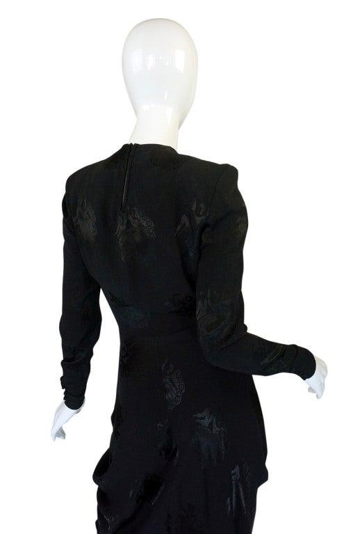 1940s Silk Draped Femme Fatale Dress 5