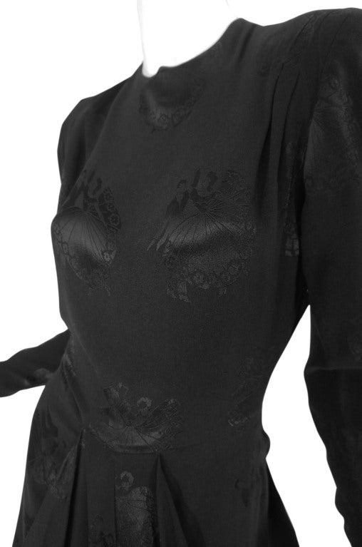 1940s Silk Draped Femme Fatale Dress 6