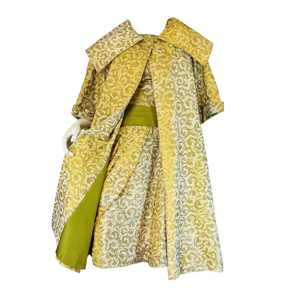 1950s Rare Ceil Chapman Dress & Coat 1
