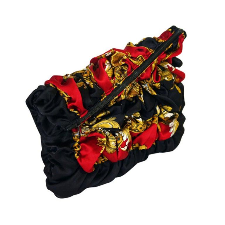 Handmade Silk 1980s Scarf Clutch
