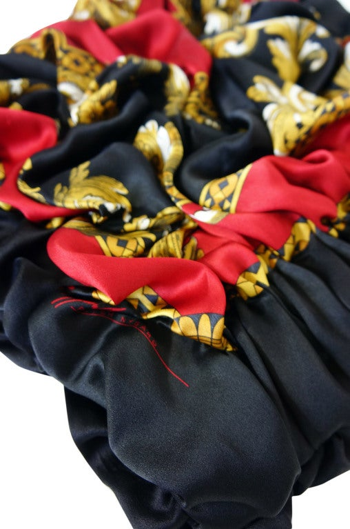 Handmade Silk 1980s Scarf Clutch image 5