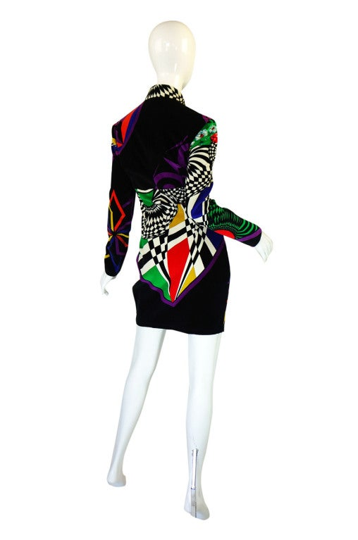 1990s Gianni Versace Versus Velvet Dress 3