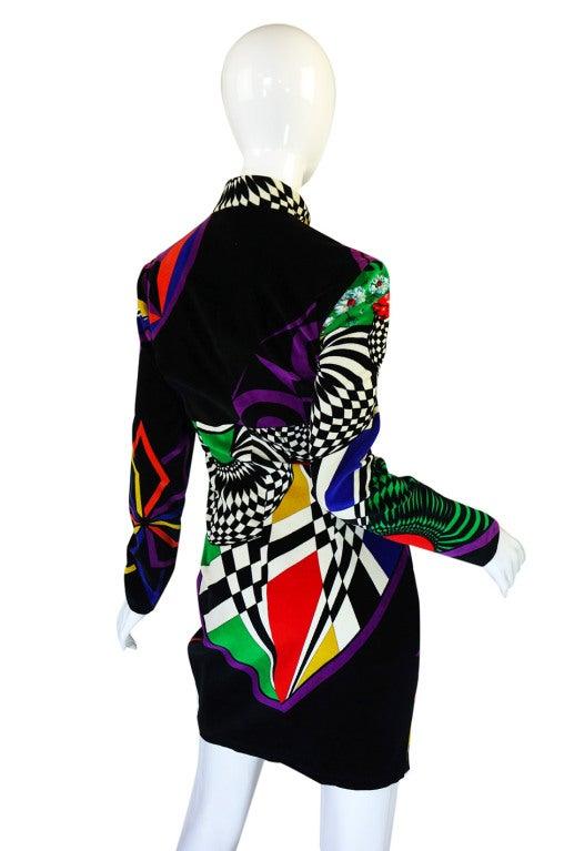 1990s Gianni Versace Versus Velvet Dress For Sale 3
