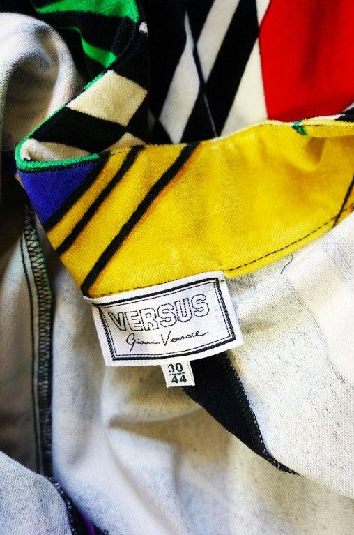 1990s Gianni Versace Versus Velvet Dress For Sale 6