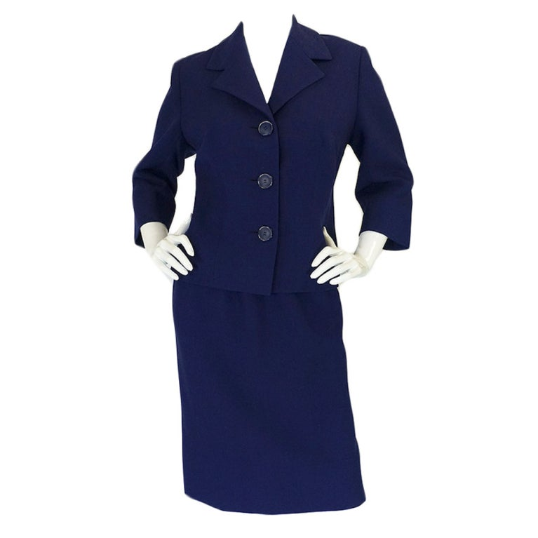 1960s pierre balmain haute couture suit at 1stdibs for Haute couture suits