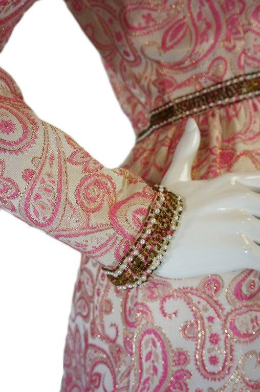 1950s Pink Brocade Ceil Chapman Gown 8