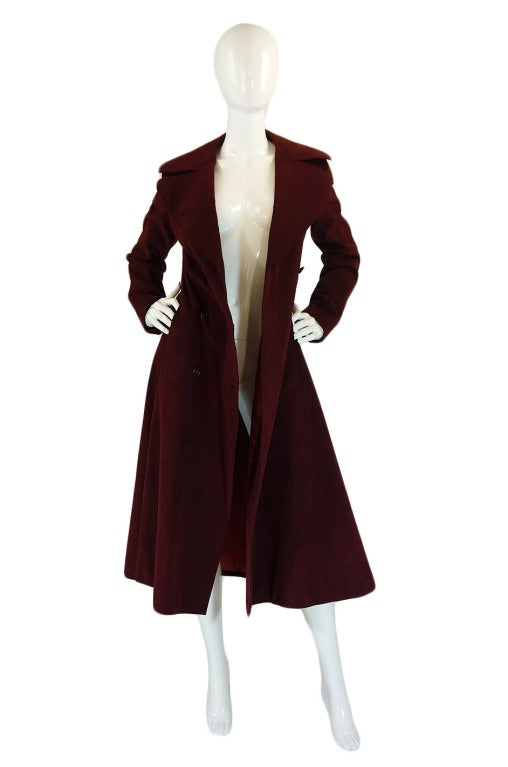 1972 Halston Ultra Suede Trench Coat 2