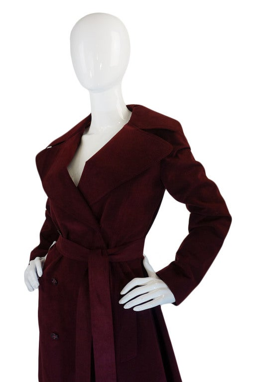 1972 Halston Ultra Suede Trench Coat 4