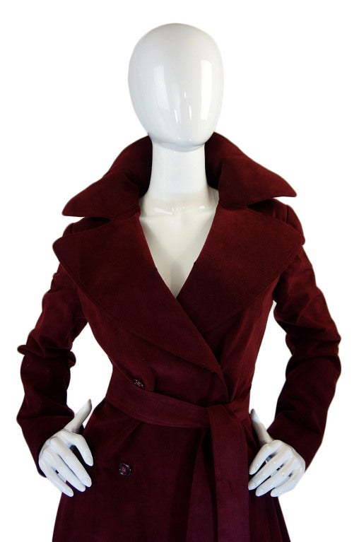 1972 Halston Ultra Suede Trench Coat 5